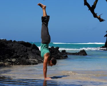 Maile Sivert Beach Handstand The Travel Yogi