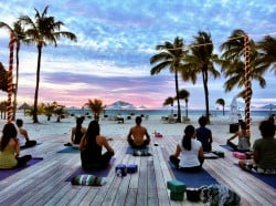 Sunset Yoga Aruba The Travel Yogi