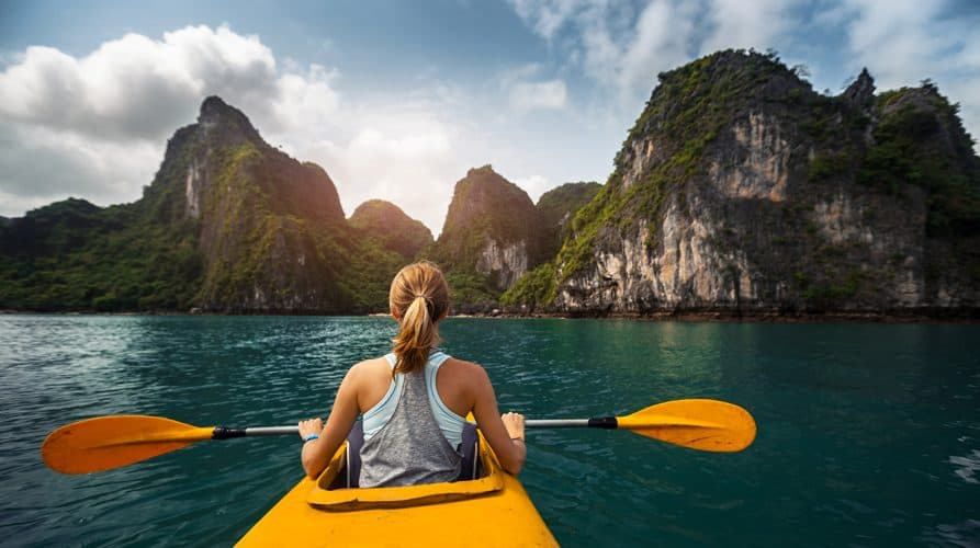 Kayak Halong Bay Vietnam The Travel Yogi