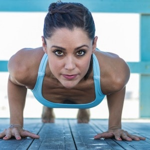 Frances Flores Yoga Plank Pose