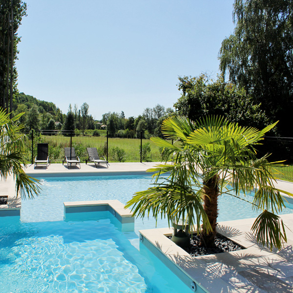 A quiet pool awaits you on this yoga retreat in France with The Travel Yogi.