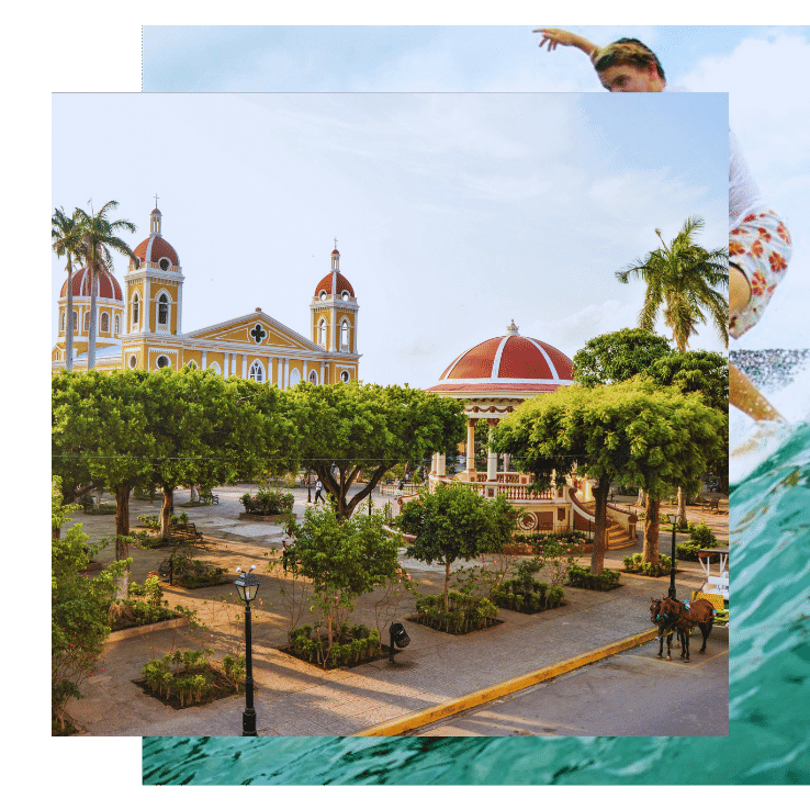The city of Granada is the first stop on this Nicaragua yoga surf retreat with The Travel Yogi.